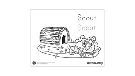 scout s deck the halls coloring printable preschool