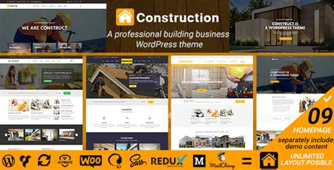 themeforest construction template download construct construction renovation building