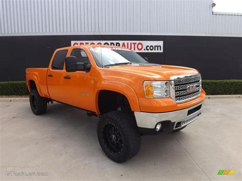 2011 fleet tangier orange gmc 2500hd work truck crew cab 4x4 83378295 gtcarlot
