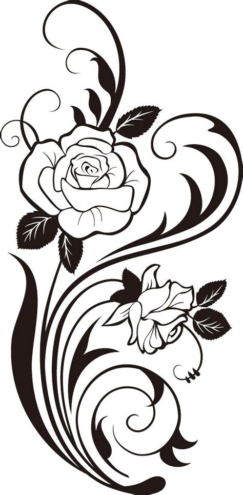 rose silhouette tattoo vine silhouette svg cricut cricutexplore cricut
