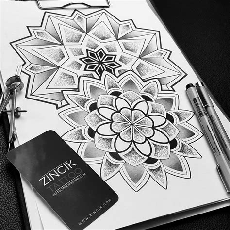 martin tattooer zincik mandala geometric design by