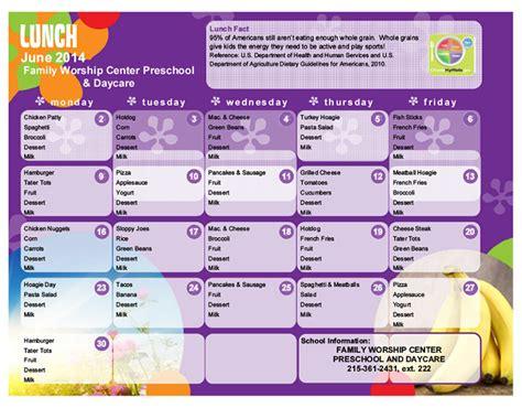 daycare lunch menu preschool lunch menu lansdale day