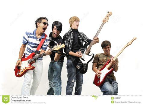 imagenes banda musical banda de rock adolescente imagen de archivo imagen de