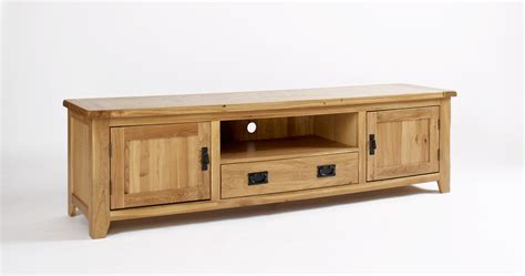 Tv Cabinets by Westbury Reclaimed Oak Widescreen Tv Cabinet Oak