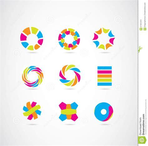 colorful logo design elements vector set colored logo elements icon set design vector illustration
