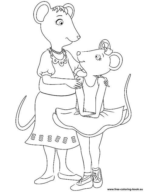 free printable coloring pages angelina ballerina coloring pages angelina ballerina printable coloring