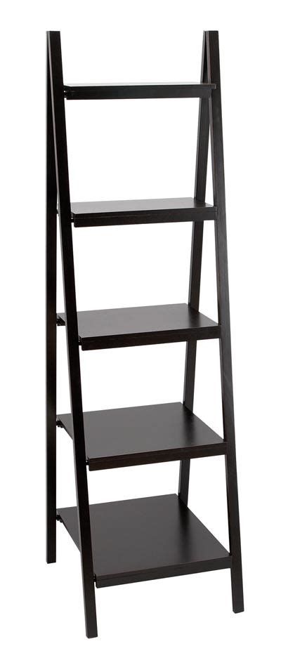 5 Shelf Ladder Bookcase 5 Shelf Ladder Style Bookcase Globe Imports