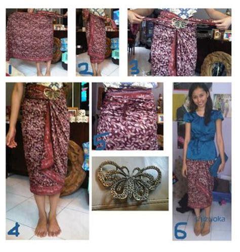 tutorial ikat kain batik siminyun s story cara pakai kain batik sebagai rok diy