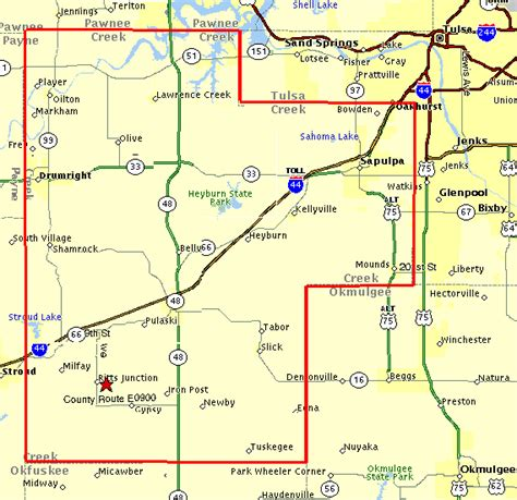 Oklahoma County Records County Map Current