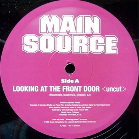 Main Source Time Looking At The Front Door レコード Lookin At The Front Door