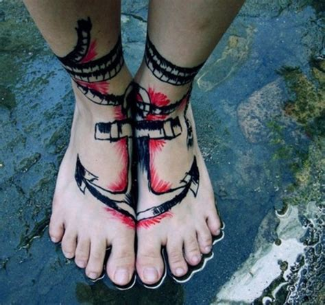100 Appealing Anchor Tattoo Designs And Ideas For Men And Anchor Foot Tattoos