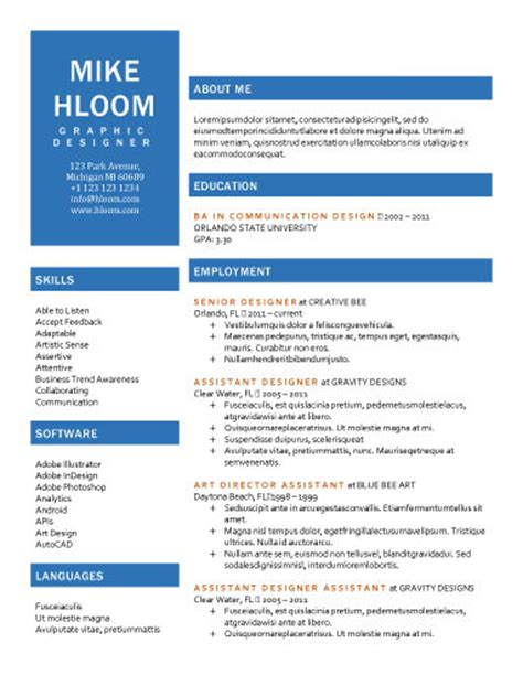 89 Best Yet Free Resume Templates For Word One Page Business Pitch Template