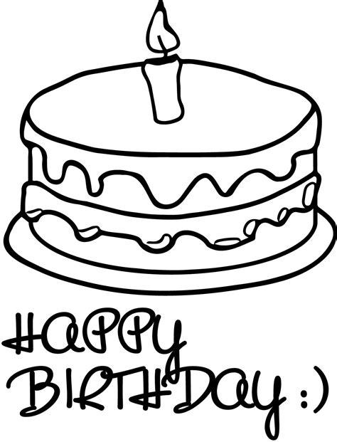 birthday cakes simple birthday cake coloring page happy birthday cake coloring page wecoloringpage