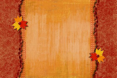 Free Beautiful Scroll For Fall Backgrounds For Powerpoint Border And Frame Ppt Templates Fall Powerpoint Backgrounds