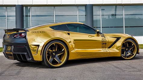 corvette stingray gold dub magazine gold wide body corvette on forgiatos video