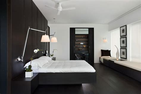 Modern Bedroom Interior Design With Black Wood Bedroom Yorkville Penthouse By Cecconi Inc 7 Homedsgn