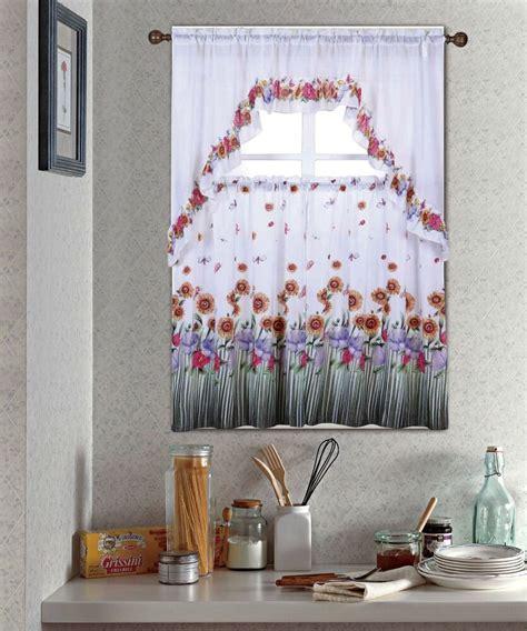 kitchen drapes and valances blossom complete tier swag set kitchen curtain set kitchen curtains ebay
