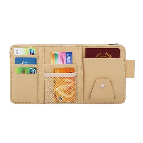 Car Sun Visor Bag Organizer car sun visor board paper tissue box cd zipper holder