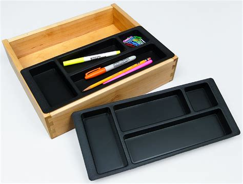 Desk Drawer Inserts pencil tray custom accents
