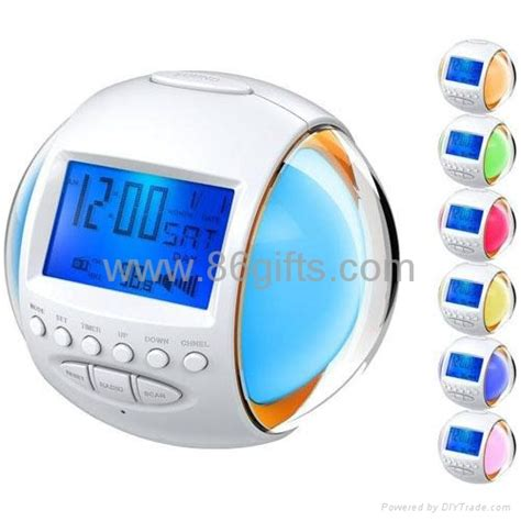 Apple Nature Sound Color Change Clock glowing 7 color change nature sound alarm clock radio hw 202 hollyta china manufacturer