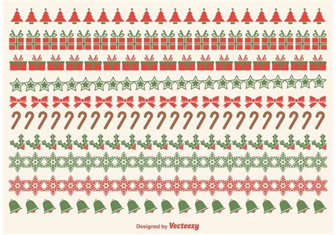 christmas pattern border christmas border vectors download free vector art stock