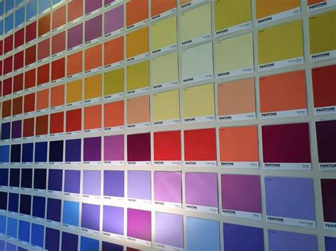 pantone fan michael kovach added some color to his bedroom with pantone paint chips from lowes