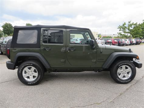 green jeep wrangler unlimited 2015 jeep wrangler unlimited sport in tank green clear
