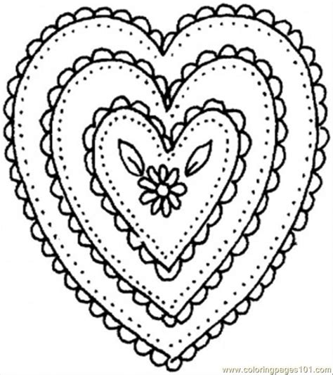 coloring pages heart shaped ornament other gt pattern