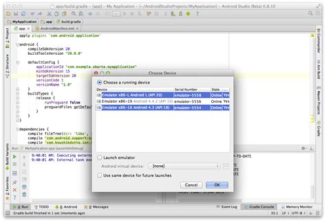 android studio run on device deployment gradle android studio deploy run on devices parallel stack overflow