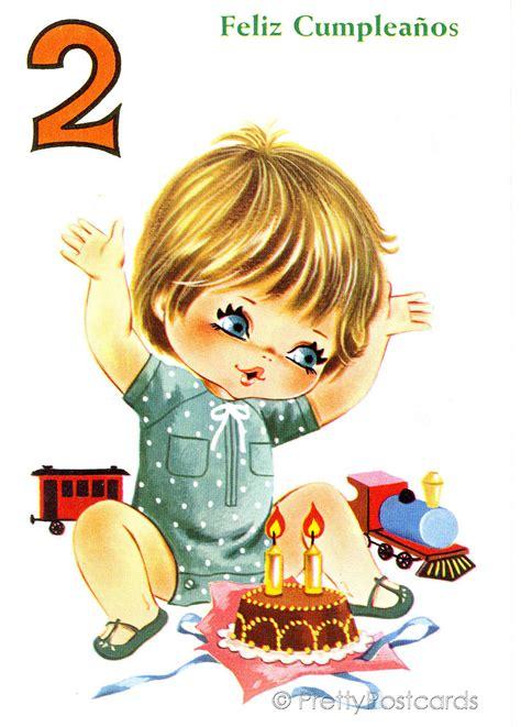 Birthday Card 2 Year Boy Vintage Birthday Card For A Big Eyed Boy 2 Years Old Flickr