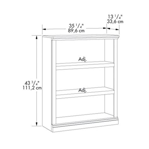 replacement shelves for bookcase sauder 3 shelf bookcase select cherry finish furniture