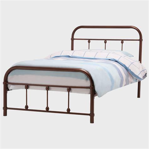 metal bed frame platform size with