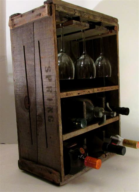 wine rack box rustic primitive wine rack wood box vintage new england