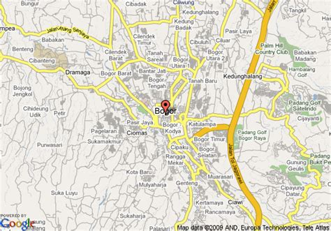 Hotel Bravia Bogor Indonesia Asia map of hotel jayakarta cisarua bogor
