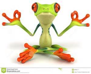 zen frog clipart