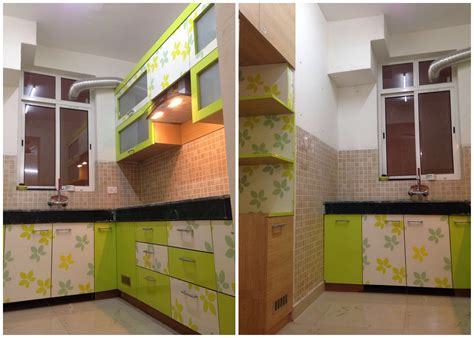 Live Working Indian Modular Kitchen Design Detail, Simple