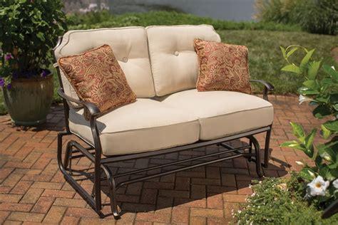 outdoor glider sofa hton bay melbourne glider