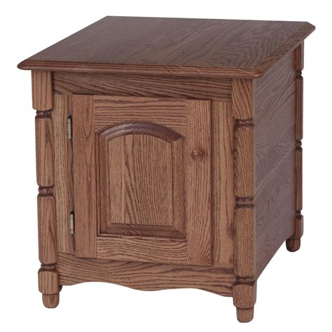 oak accent tables solid oak country style storage end table 21 quot x 25