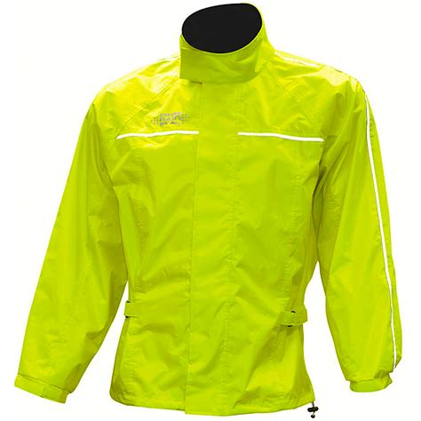 fluorescent bike jacket oxford rainseal all weather over jacket fluorescent