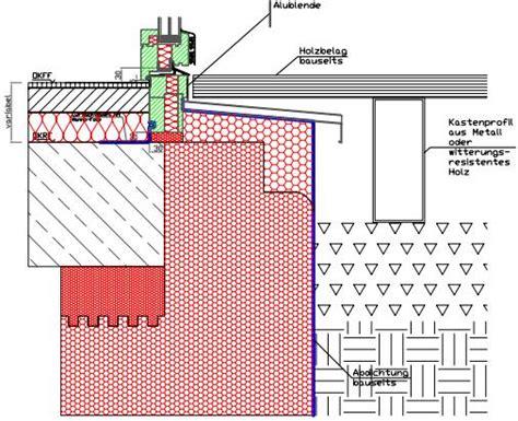 Fensterbank 15cm by Anschlussdetail Terrasse T 252 R Bauforum Auf