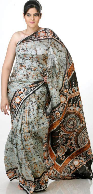 Process of making batik saree