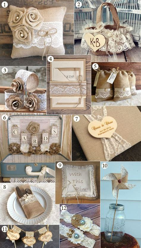 Vintage Decor For Sale by Charming Burlap Wedding Decorations For Sale 13 About