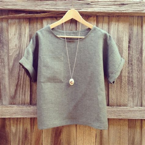 linen t shirt pattern linen hemlock by diane project sewing shirts tanks