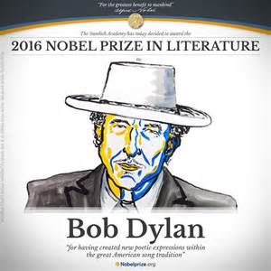 Curtain Speech Bob Dylan Awarded The Nobel Prize In Literature Rock
