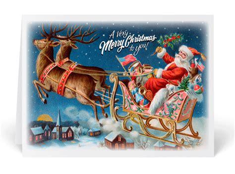 vintage victorian santa christmas card 36052 harrison