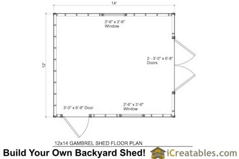 gambrel floor plans 12x14 gambrel shed plans 12x14 barn shed plans