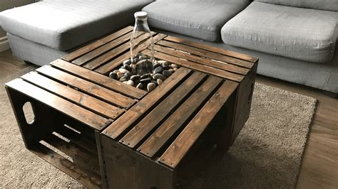 Crate Table Diy Diy Crate Coffee Table