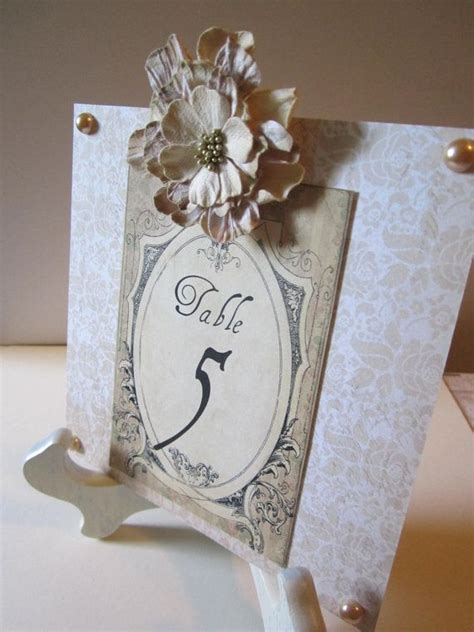 shabby chic victorian styled 15 wedding table numbers
