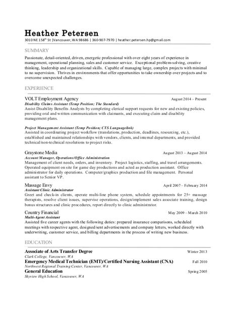 Resume Skills Detail Oriented Detail Oriented Resume Exle
