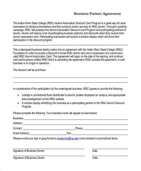 7 Sle Business Partnership Agreements Pdf Doc Partnership Agreement Template Pdf